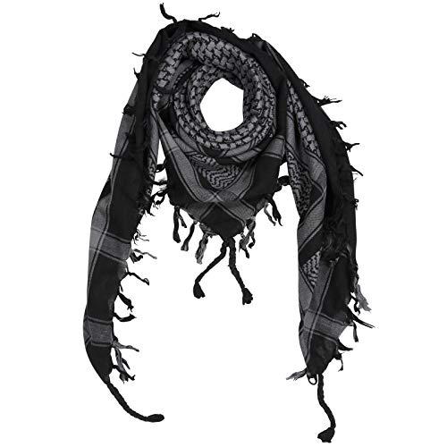 Superfreak® Palituch Grundfarbe schwarz°PLO Schal°100x100 cm°Pali Palästinenser Arafat Tuch°100% Baumwolle, Farbe: schwarz/grau