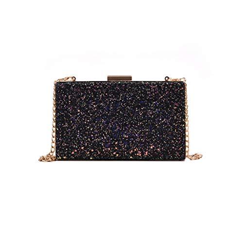 Mitlfuny handbemalte Ledertasche, Schultertasche, Geschenk, Handgefertigte Tasche,Frauen-modische Pailletten-Metallquadrat-Umhängetaschen-Damen-luxuriöse Partei-Handtaschen