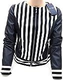Armani Jeans Damen Mantel Jacke Outdoorjacke Lederimitat Freizeit Art. C5B32 EU 40 - USA 4 BLU Blue