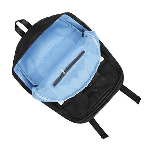 Koreanisch Rucksack Schulranzen Daypack mit 15 zoll Laptopfach Reiserucksack Backpack für Studenten, Mädchen, Jungen, Kinder und Lieberpaar Schwarz