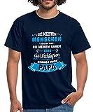 Spreadshirt Die Wichtigsten Menschen Nennen Mich Papa Spruch Männer T-Shirt, XL, Navy