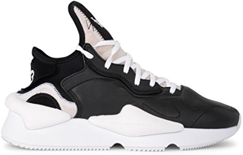 Sneaker Y-3 Kaiwa in Pelle e Neoprene nera e Bianca