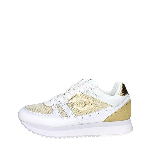 LOTTO scarpe donna sneakers basse S8906 TOKYO WEDGE W Bianco-dorato