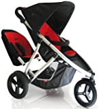 Phil & Teds Vibe v2 Inline Pushchair PLUS Double Kit in Red/Black