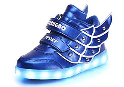 Littlepanda Baskets Lumineuses Led - Garçon Bleu