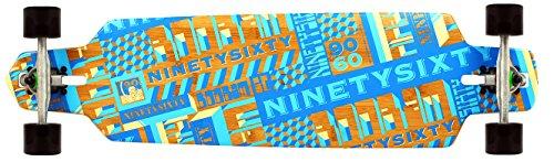 Ninetysixty Boobam Flex Hart Komplett Longboard, Blau, 100 cm