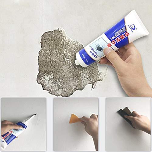 95sCloud 3X250g Wall Mending Agent, weiße Latexfarbe Wand Reparatur Creme, Repair Paste Wandspachtelmasse Sofort Reparaturpaste Schnellreparaturcreme für Leicht Löcher Oder Knackt Wände