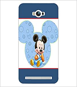 PrintDhaba Mickey Mouse D-1309 Back Case Cover for ASUS ZENFONE MAX ZC550KL (Multi-Coloured)