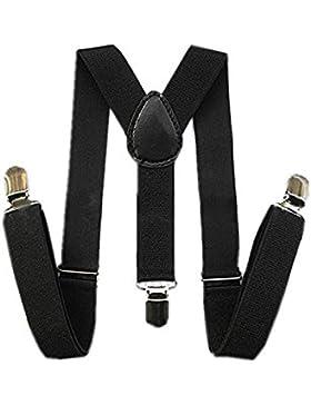 Tirantes - TOOGOO(R)Tirantes ajustables elasticos de espalda en forma de Y para ninos chicos chicas de color negro