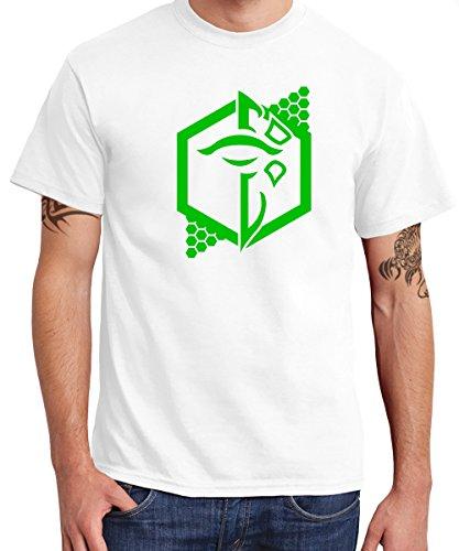 clothinx - Enlightenment (Grün) - Boys T-Shirt Weiss, Größe XXL