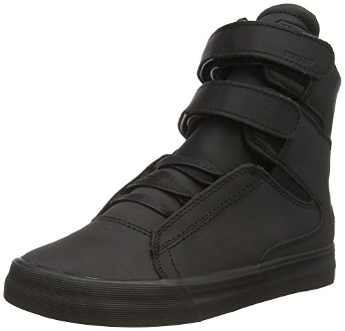 Supra SOCIETY II, Unisex-Erwachsene Hohe Sneakers, Schwarz (BLACK - BLACK RCS), 44...