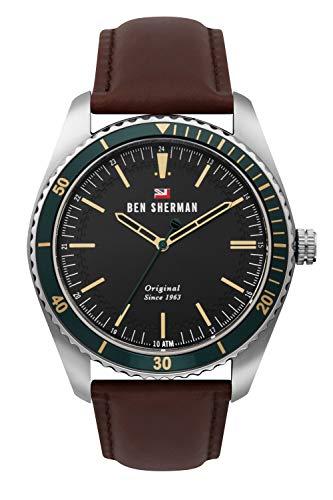 Ben Sherman Hommes Analogique Quartz Montre avec Bracelet en Cuir WBS114NT