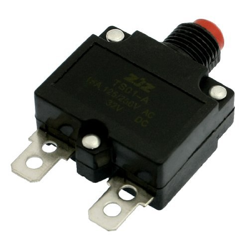 DealMux DC 32V Red Push Button Air Compressor Circuit Breaker Overload Protector 15A -