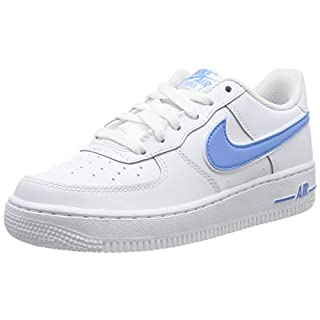 Nike Jungen Air Force 1-3 (gs) Basketballschuhe, Mehrfarbig (White/University Blue 102), 38 EU