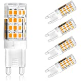 Ascher 4er-Pack G9 5W 51 LED Lampe SMD 2835 (vgl. 30W Halogen) [350LM, Warmweiß 2800K , AC 220-240V, 360º Abstrahlwinkel,Warm-Weiß]