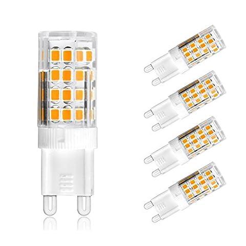 Ascher 4er-Pack G9 5W 51 LED Lampe SMD 2835 (vgl. 30W Halogen) [350LM, Warmweiß 2800K , AC 220-240V, 360º