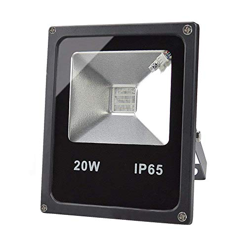 GLW 20W LED RGB Inundaciones Luces,Impermeable IP65 color Cambiante Proyector Exterior,240V,3.28 ft/1m...