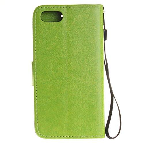 Wkae Case Cover iPhone 7 Cover Case, solide étui en cuir couleur PU Dandelion gaufrage Case Amant Wallet Stand pour iPhone 7 by DIEBELLEU ( Color : 10 , Size : IPhone 7 ) 5