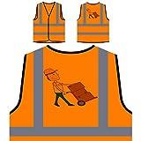 Strategia Di Consegna Concettuale Personalizzato Hi Visibilità Giacca Gilet Arancione di sicurezza p551vo