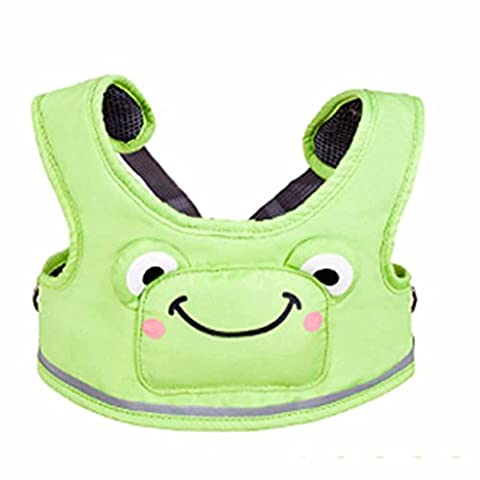 PePeng Child Safety Walking Harness for 6-48 Months Baby, Cute Green Frog Kids Resin Assistant Strap to Help Learn How to Walk