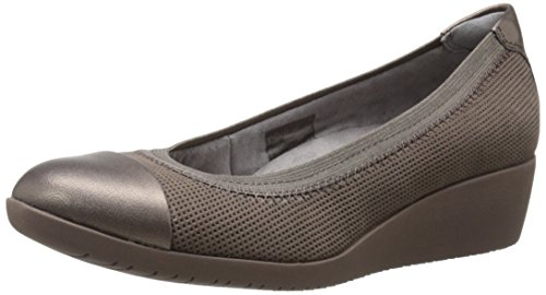Clarks Petula Sadie Wedge synthétique Taupe Nubuck