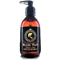 Lujoso champú y jabón líquido para la barba de Modern Day Duke, champú para barba revitalizante, jabón para la barba, promueve un crecimiento saludable - Botella XL 200ml