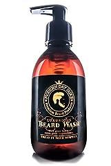 Idea Regalo - Shampoo barba detergente morbido - Modern Day Duke Sapone per il lavaggio della barba di lusso, XL 200ml - contenente Aloe, Cedarwood e Lime - Pulisce e condiziona delicatamente, promuovendo una crescita sana per barbe pulite, morbide e piene
