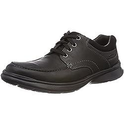 Clarks Cotrell Edge, Zapatos de Cordones Derby para Hombre, Negro (Black Oily Lea), 43 EU