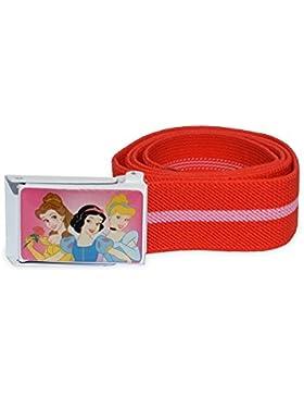Cintura elastica 75 cm Disney bambina con fibbia decorata Principesse. MWS (Rosso)