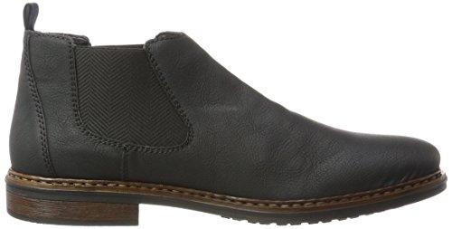 Rieker Herren 37680 Chelsea Boots Schwarz (Schwarz)