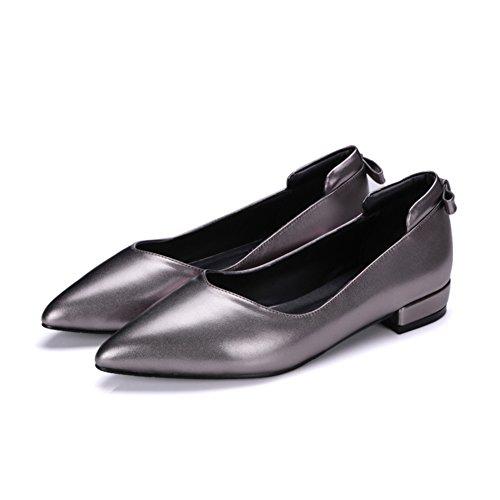 Lady Light brute avec des chaussures plates au printemps/ModecoréenneJokershoes/simplechaussurespointuesfemmes B