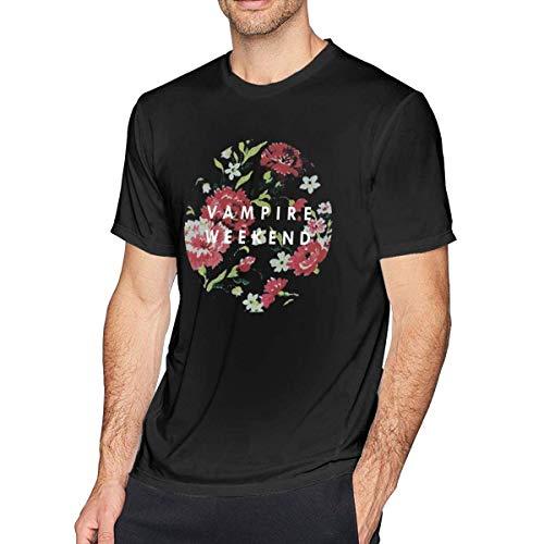 Männer T-Shirt mit Rundhalsausschnitt Vampire-Weekend Cotton Casual Short Sleeve Tee,M