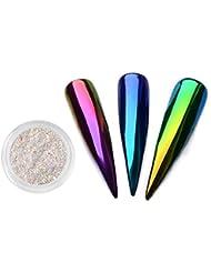 Neon Unicorn Holographische Spiegel Glitzerpuder Staub Aurora Pigment Nail Art Glitter Meerjungfrau Regenbogen Chrom Pulver Nagel DIY Dekorationen 0,5g