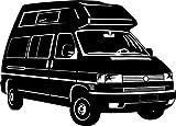 VW T4 BUS California – Volkswagen – Auto – Kult // Autoaufkleber // verschiedene Farben und Größen (Schwarz - 450 mm x 320 mm)