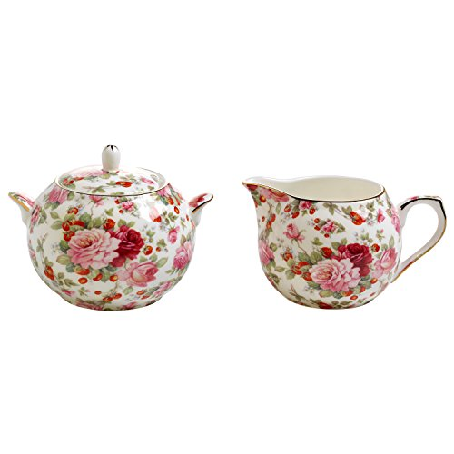 Maxwell&Williams Royal Old England Milch/Zucker-Set Sommerrose mit Geschenkbox