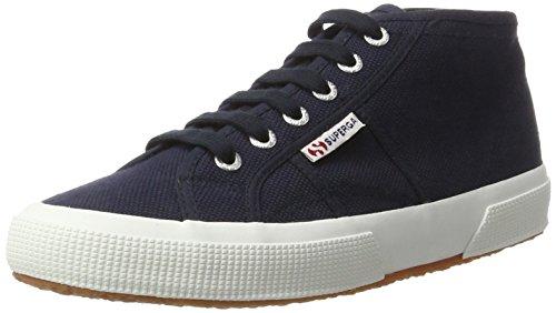 Superga Unisex-Erwachsene 2754 Cotu Hohe Sneakers Blau (navy-white)