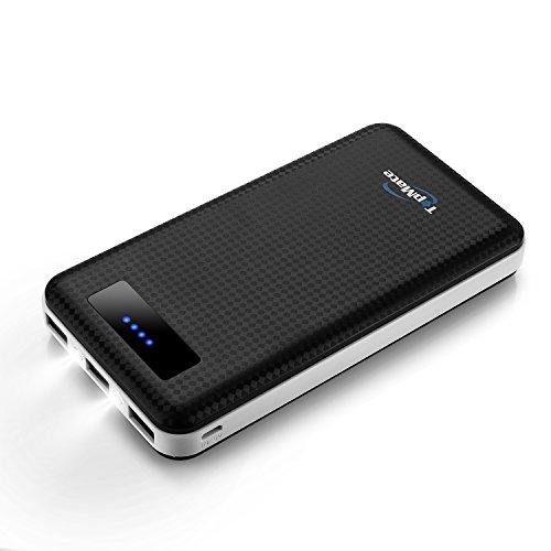 Topmate 20000mah Batterie Externe 3 Ports USB Chargeur Portable De Secours Avec LED Pour Iphone, Ipad, Samsung, Nexus, HTC Et Autres Smartphones, Tablettes Etc (Noir)