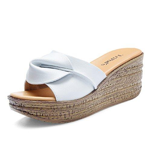 Fiori e comode scarpe da donna/Lady slipper/Natalie Choquette con sandali e ciabatte/scarpe alla moda con la suola spessa all'aperto B