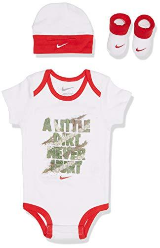 Nike 035-001 Conjunto, Unisex bebé, Blanco/Rojo/Verde, S