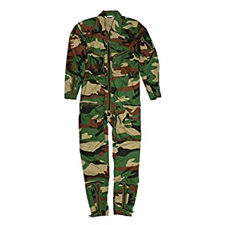 Continental Flight Suit/Boiler Suit (40, Woodland Camo)