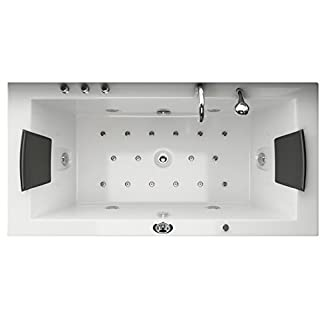 Bañera de hidromasaje Whirlpool Villa Eugenie II iluminacion LED en cada boquilla Spa cuarto de baño