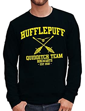 Felpa Girocollo HUFFLEPUFF QUIDDITCH HARRY POTTER - FILM by Mush Dress Your Style