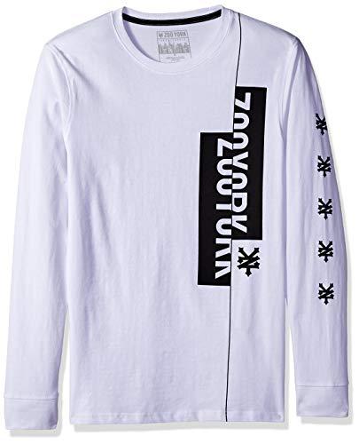 Zoo York Herren Long Sleeve Crew Neck Tee T-Shirt, weiß, X-Groß -