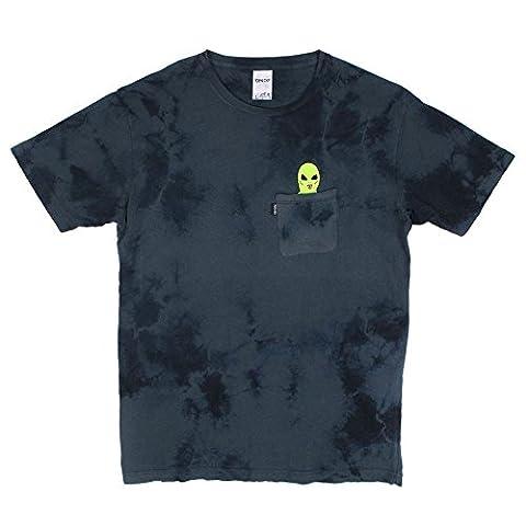 RIPNDIP T-Shirt Lord Alien Pocket blau (blue lightning wash) Groesse L