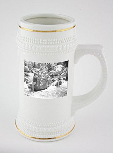 Beer mug with sea breeze