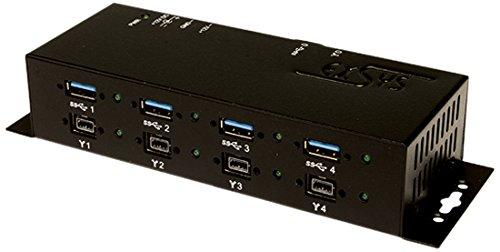 Exsys USB 3.0+FireWire 1394B Metall-Hub mit je 4 Po