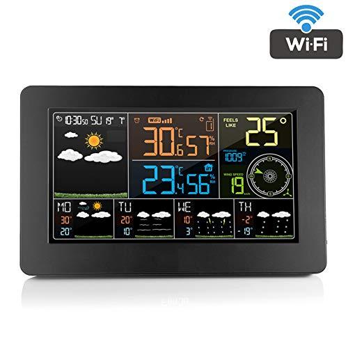 WTOKL Wetterstation Color WiFi Weather Clock Automatisches Korrekturlesen Uhrzeit und Datum Wettervorhersage Außensensor