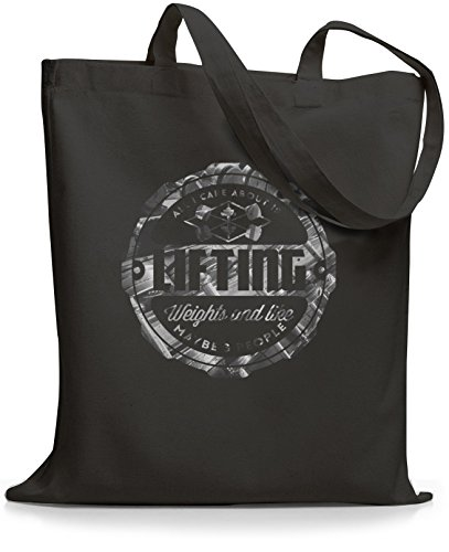 StyloBags Jutebeutel / Tasche All I care about is Lifting Darkgrey