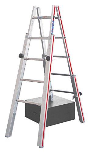 Doppel-Stehleiter HYMER, für Treppen, Höhe 2,25 m