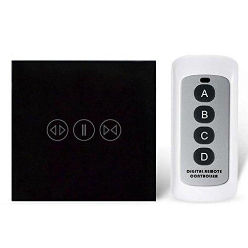 Smart Switch Cortina 433Mhz con Control Remoto eléctrico Cortina táctil Interruptor White...